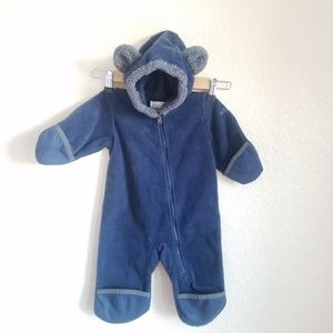 Columbia Teddy Bear Onesie Fleece Outerwear Blue